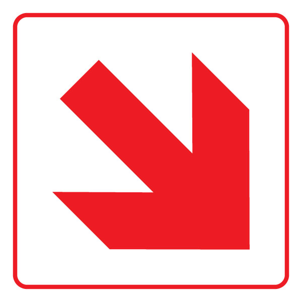 Direction Sign Arrow up Plastic Sign or Sticker All Sizes /& Materials